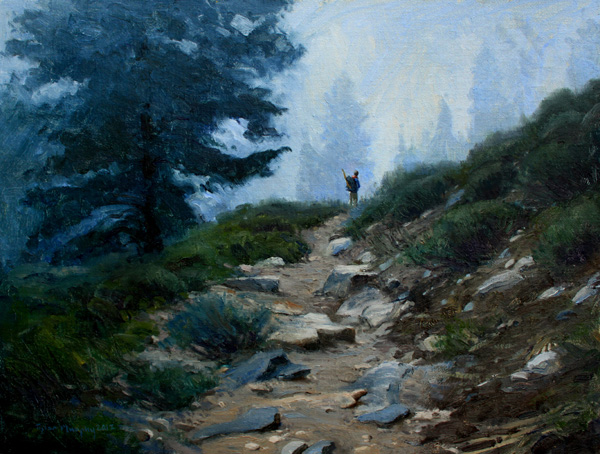 Tyler Murphy, Adventuring with a Member of the Lombard Tribes, oil, 12 x 16.