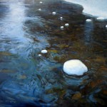 Tyler Murphy, West Boulder Water, oil, 20 x 24.