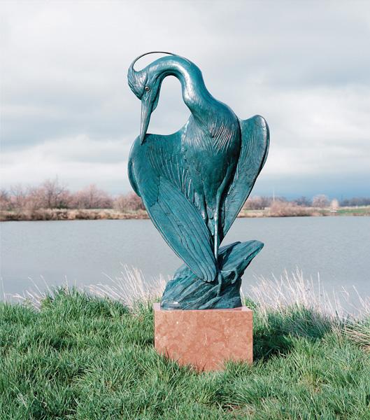 Kent Ullberg, Spring Plummage, bronze, 60 x 30 x 15.