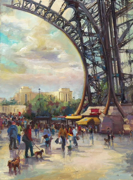 Under the Tower, oil, 28 x 30.