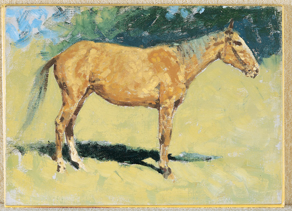 Frederic Remington, Untitled Horse Study, oil, 10 x 14.