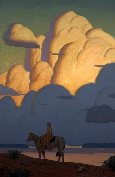Logan Maxwell Hagege, Unveiling the Clouds, oil, 80 x 52.