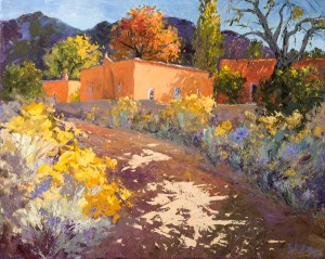 Evelyne Boren, Upper Canyon in the Fall, oil, 48 x 60.
