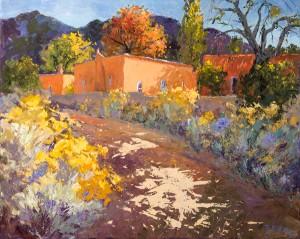 Evelyne Boren, Upper Canyon in the Fall, oil, 48 x 60.