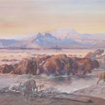Charles M. Russell, The Upper Missouri in 1840, 1902, watercolor, C.M. Russell Museum, Trigg Collection.