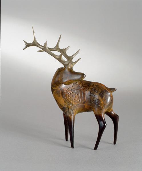 Rebecca Tobey, Ute, bronze, 5 x 5 x 3.