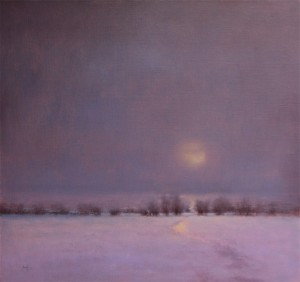 Nancy Bush, Veiled Moon, oil, 28 x 30.