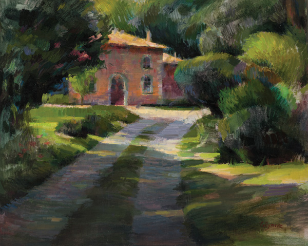 Valerie Collymore, French Cottage at Chateau St. Julien L'ars, oil, 24 x 30.