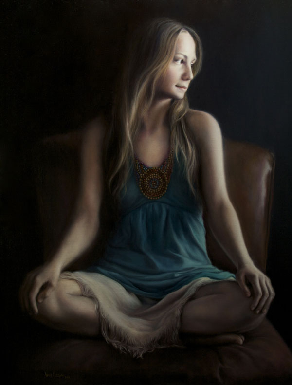 James Van Fossan, Rosibel, oil, 28 x 23.