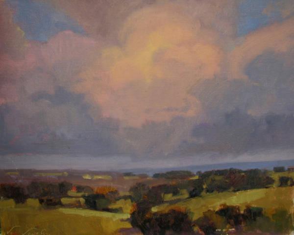 V....Vaughan, Drought Breaker, oil, 16 x 20.