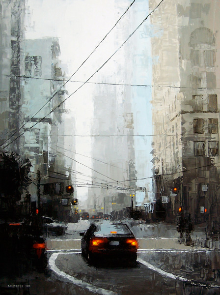 David Cheifetz, Veiled District, oil painting