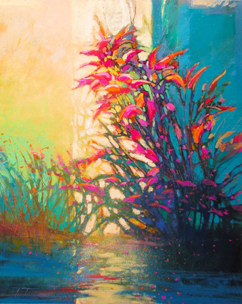 Mark Gould, Verdure, Verdure: Arcadian 949, acrylic, 30 x 24.