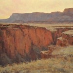 Greg Scheibel, Vermillion Cliffs at Dusk, oil, 18 x 24.