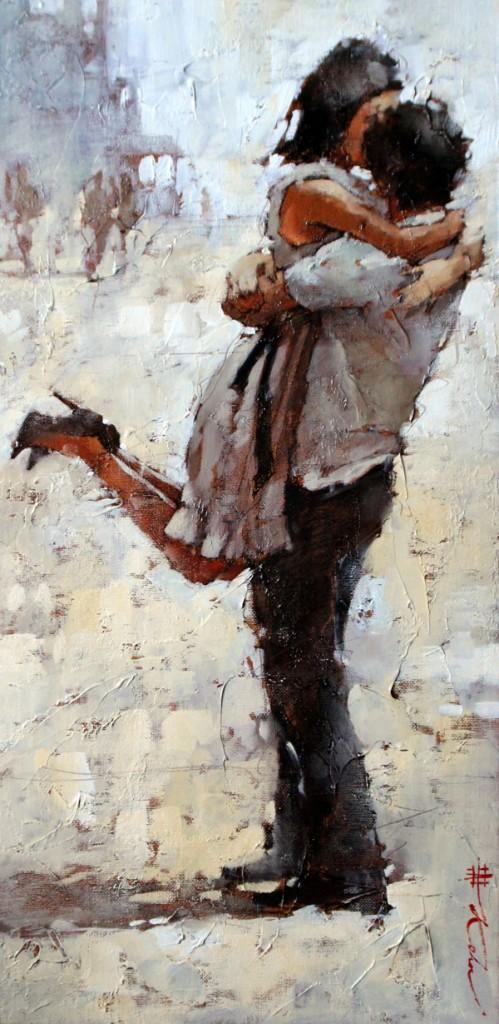 Andre Kohn, Vero Amore, oil, 22 x 11.