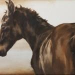 September Vhay, Bokeh, oil, 15 x 41.