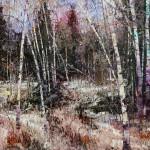Robert Moore | Violet Aspens, oil, 36 x 48.