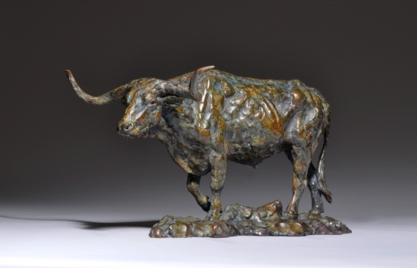 Mick Doellinger, Headin North, bronze sculpture