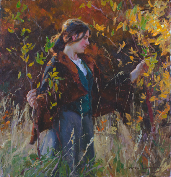 Michael Malm, Turning Gold, oil painting
