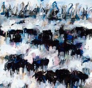 Theodore Waddell, Alder Angus #2, 1991. Oil painting