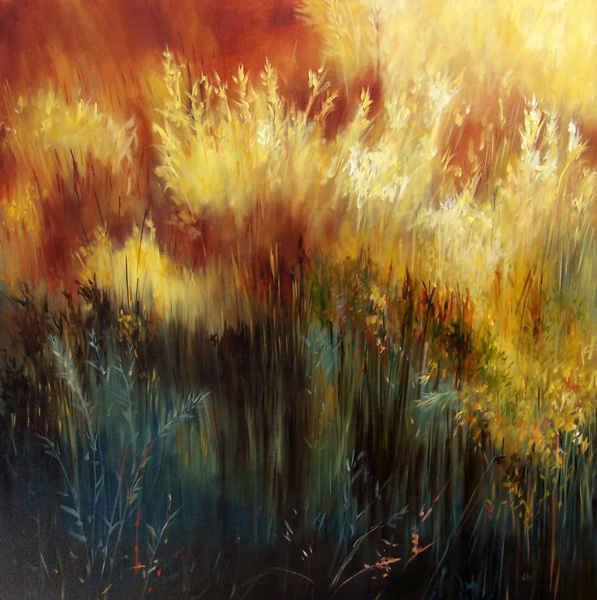 Jan Wagstaff, Canyon Heat, oil, 36 x 36.