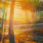 Mark Gould, Walking Home: Arcadian 942, acrylic, 16 x 12.