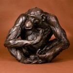 Bart Walter, The Observer, bronze sculpture