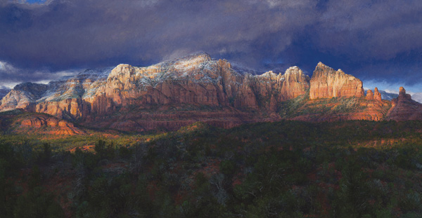 Curt Walters, First Touch of Winter, oil, 28 x 54.