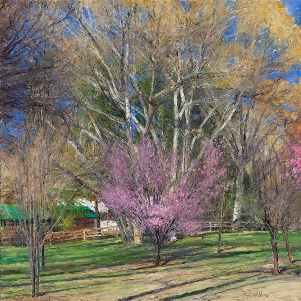 Curt Walters, Spring Comes to Hidden Valley, oil, 20 x 20, Nedra Matteucci Galleries.