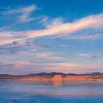 Curt Walters, Temple Bar: Lake Mead, oil, 28 x 28.