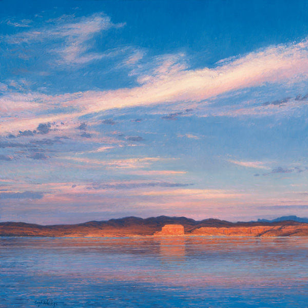 Curt Walters, Temple Bar: Lake Mead, oil, 28 x 28.