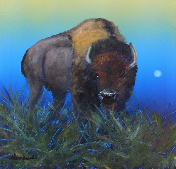 Raymond Nordwall, Watching You, oil, 10 x 10.