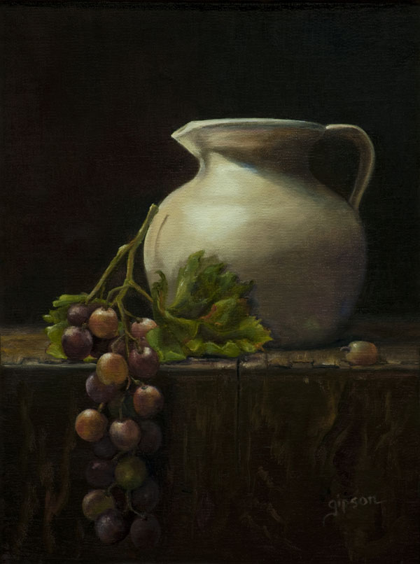 Shirley Gipson, Water to Wine, oil, 12 x 9.
