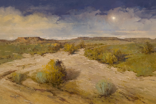 David Griffin, Weathered Moon, oil, 24 x 36.