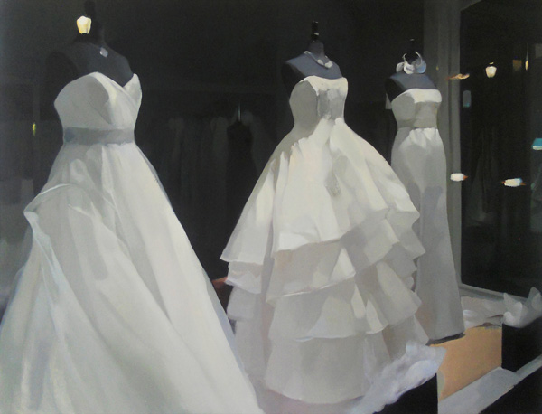 Christina Weaver, Three Brides, oil painting