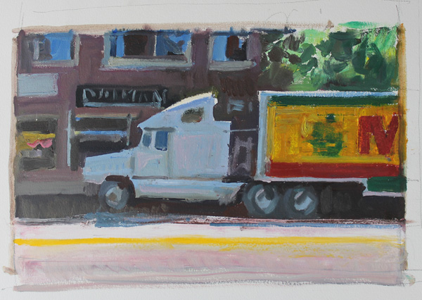 Kevin Weckbach, Moving, oil, 10 x 14.
