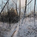 David Bottini, Wet Snow & Glistening Mud, acrylic, 36 x 18.