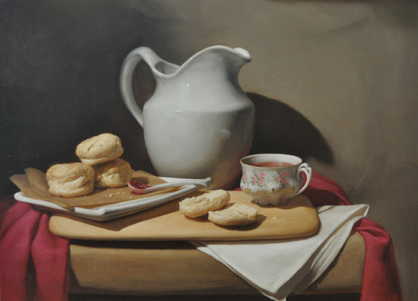 Katie Whipple, Katie's Biscuits, oil still-life painting