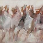 Jean Richardson, Whisper Stampede, acrylic, 40 x 60.