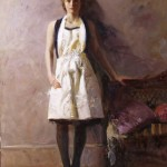 Pino, White Apron, oil, 48 x 40.