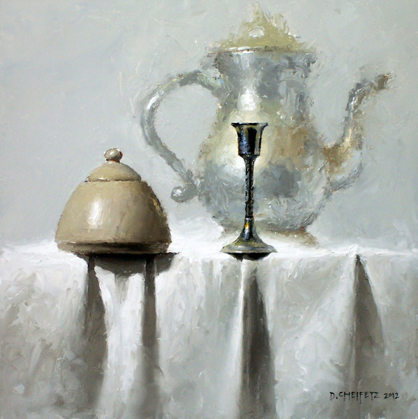 David Cheifetz, White Dawn, oil painting