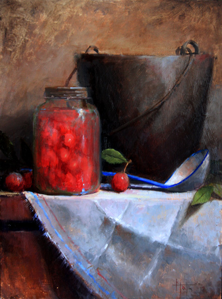 Kathy Tate, Wild Plums, oil, 16 x 12.