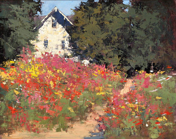 Romona Youngquist, Wildflowers at Noon, oil, 16 x 20.