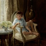 Jennifer Welty, Will, oil, 40 x 40.