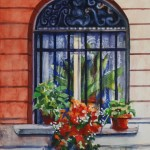 Diana Madaras, Window in the City, watercolor, 12 x 9.