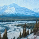 Jerry Markham, Winter in Howse Pass, oil, 36 x 60.