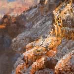 James McGrew, Winter's Splendor, oil, 16 x 8.