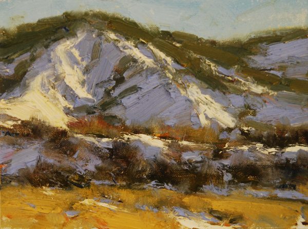 Dan Young, Winter's Way, oil, 6 x 8.
