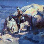Jim Wodark, Solitude Broken, oil, 10 x 20.