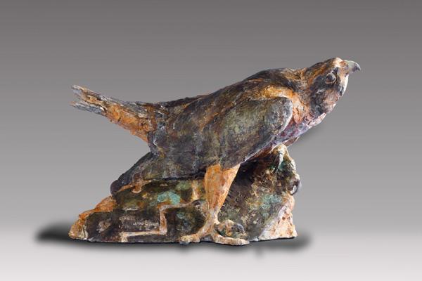 Greg Woodard, Anasazi Anatum, bronze, 10 x 18 x 11.