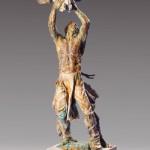 Greg Woodard, Buffalo Medicine, bronze, 24 x 11 x 11.